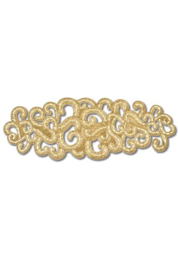 Large Gold Lace Motif Runner