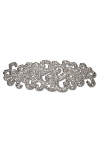 Large Silver Lace Motif Runner