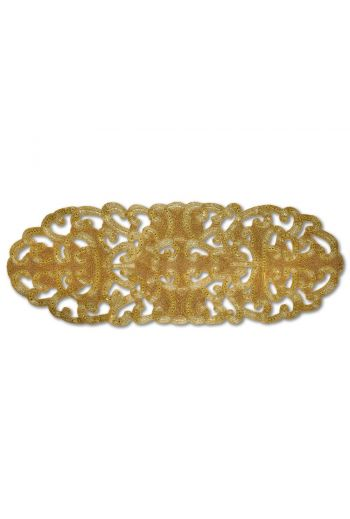 Gold Beaded Lace Circular Runner