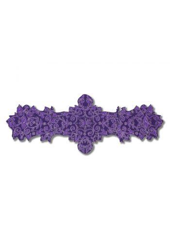 Large Purple Framed Flower Runner