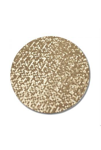 Gold Circular MDF Dots Placemat