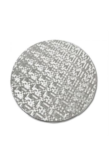 Silver Circular MDF Modern Texture Dots Placemat