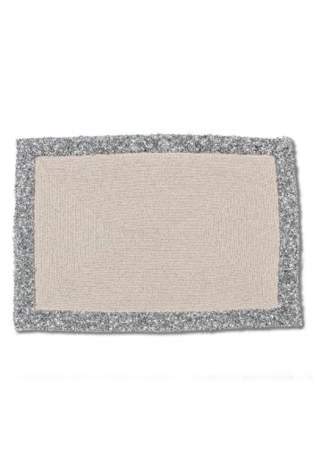 Light Gray Beaded Placemat