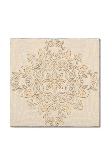 Ivory Flower Square Placemat