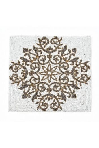 White Flower Square Placemat