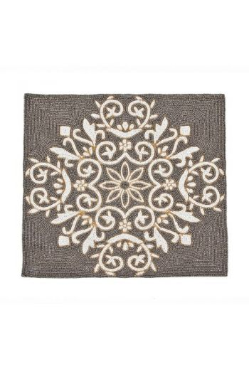 Grey Flower Square Placemat