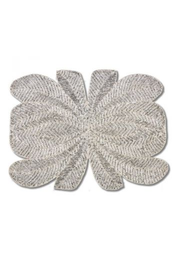 Silver Peacock Placemat