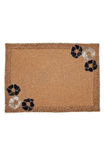 Flower Placemat in Gold Beading