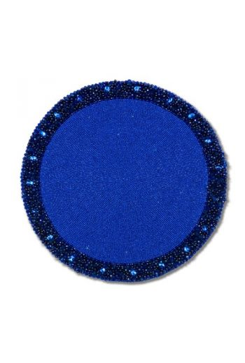 Royal Blue Beaded Placemat