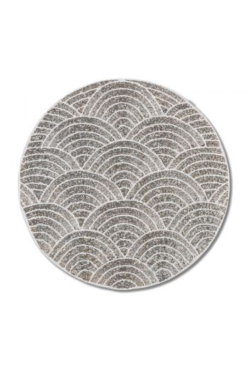 Light Gray Wave Placemat