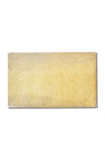 Gold Color Flat Glass Rectangle Plate