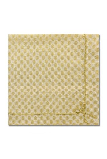 Cute as Bow Gold and White Floral Napkin
