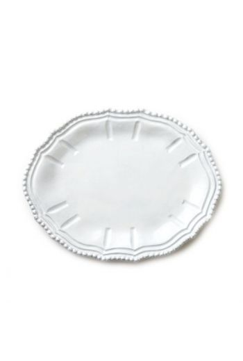 INCANTO WHITE BAROQUE SMALL OVAL PLATTER