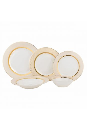 Joseph Sedgh Isabella  20 Piece Bone China Dinnerware Set - Service for 4