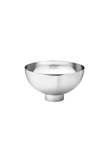 Georg Jensen Isle Bowl, Medium Mirror Polished Stainless Steel - H: 3.54 inches. Ø: 6.3 inches.