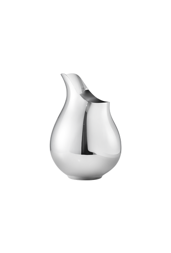 Georg Jensen Isle  Vase, Medium Mirror Polished Stainless Steel - H: 9.33 inches. Ø: 6.46 inches.