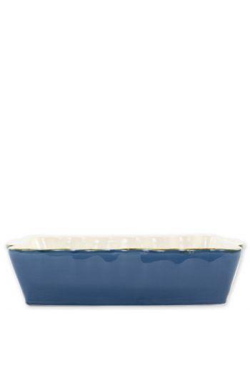 Italian Bakers Blue Large Rectangular Baker