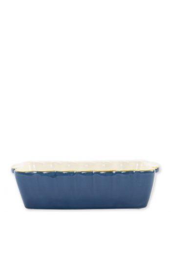 Italian Bakers Blue Small Rectangular Baker