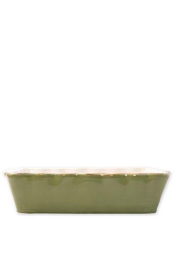 Italian Bakers Green Large Rectangular Baker