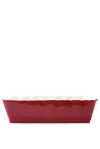 Italian Bakers Red Large Rectangular Baker
