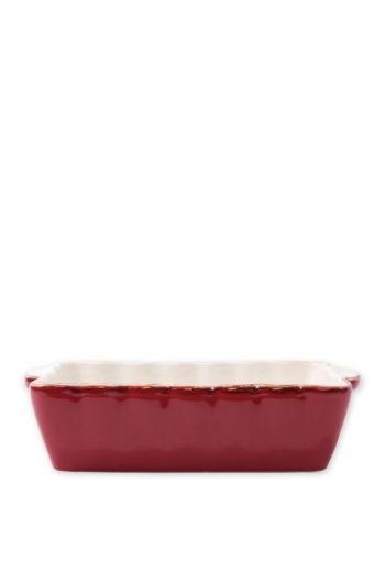 Italian Bakers Red Small Rectangular Baker