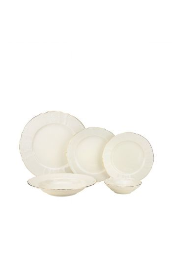 Joseph Sedgh  Bernadotte Ivory 20 Piece Porcelain Dinnerware Set - Service for 4