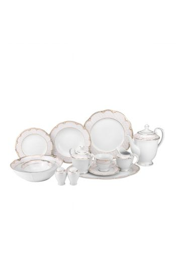 Joseph Sedgh Sandra 57 Pc Porcelain Dinnerware Set - Service for 8