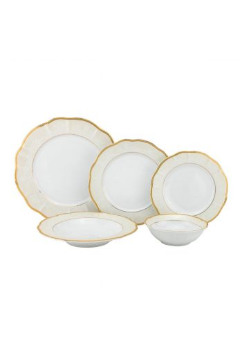 Joseph Sedgh Fiorella  20 Pc Porcelain Dinnerware Set - Service for 4