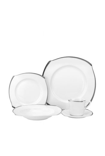 Joseph Sedgh Platinum Wave 20 Pc Porcelain Dinnerware Set - Service for 4
