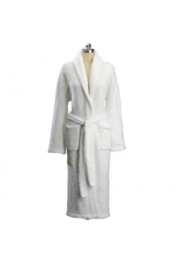 Kashwere Signature White Shawl Collar Robes - Large
