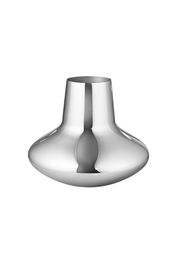 Georg Jensen Koppel Vase, Large Mirror Polished Stainless Steel -H: 8.74 inches. Ø: 10.63 inches.