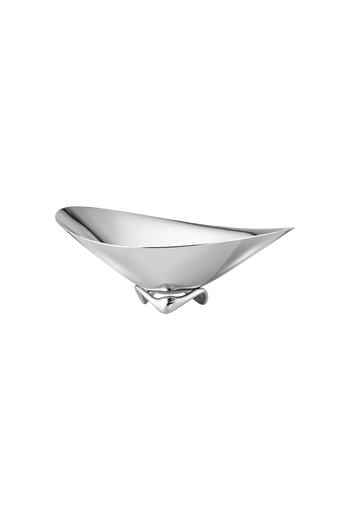 Georg Jensen Koppel Wave Bowl, Small Mirror Polished Stainless Steel - H: 4.92 inches. Ø: 12.2 inches.