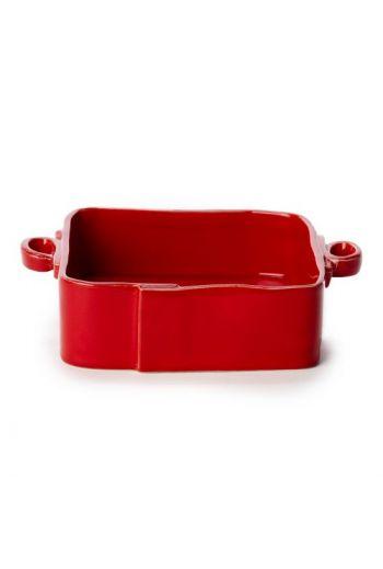 Lastra Cappuccino Square Baker-Red