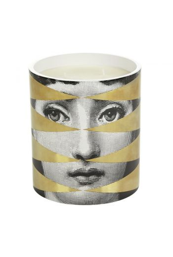 Fornasetti Losanghe Scented Candle, Gold - 1.9kg