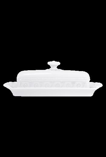 "Bernardaud Louve Covered Butter Dish - Measures 9"" W x 4½"" D"