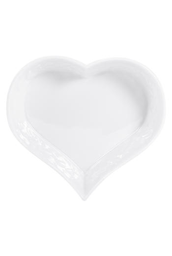 "Bernardaud Louve Heart Dish, Large - Measures 6"" w"