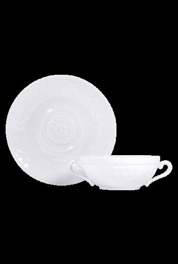 Bernardaud Louve Cream Soup Cup & Saucer