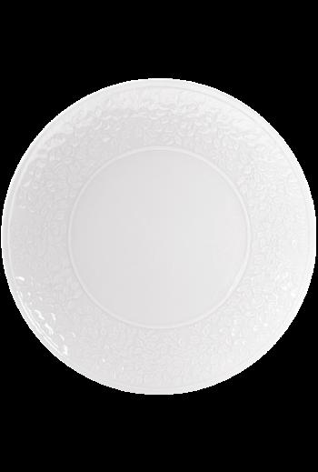 "Bernardaud Ecume White Charger/Service Plate, Large 12.25"" D"