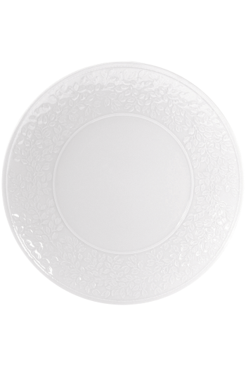 "Bernardaud Ecume White Charger/Service Plate 11.5"" D"