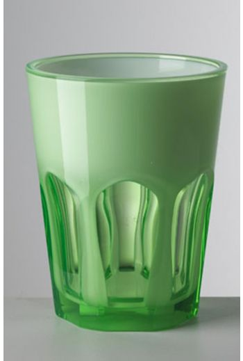 Mario Luca Double Face Tumbler Green - Set of 6