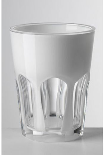 Mario Luca Double Face Tumbler White - Set of 6