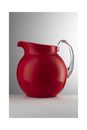 Mario Luca Palla Glazed Pitcher Red