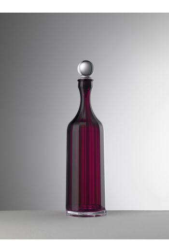 Mario Luca Bona Decanter Sealed Stopper Ruby