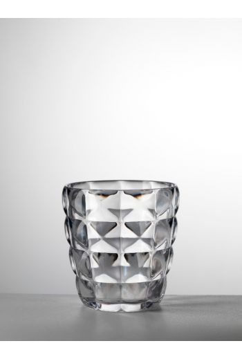 Mario Luca Diamante Tumbler Clear - Set of 6