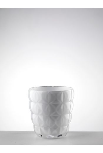 Mario Luca Diamante Tumbler White - Set of 6