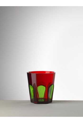 Mario Luca Gulli Tumbler Red/Green - Set of 6