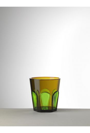 Mario Luca Gulli Tumbler Amber/Green - Set of 6