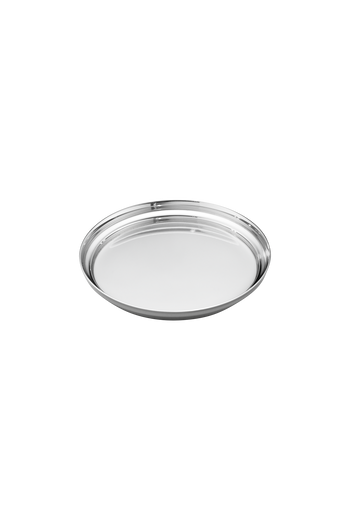 Georg Jensen Manhattan Glass Coaster Mirror Polished Stainless Steel - H: 0.47 inches. Ø: 3.74 inches.
