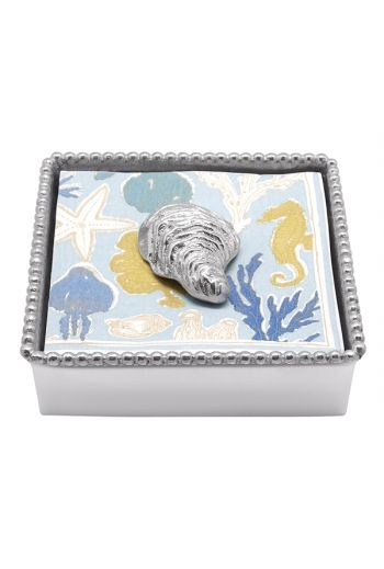 Oyster Beaded Napkin Box