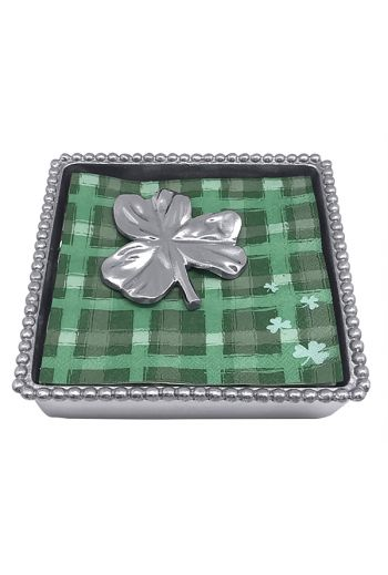 Shamrock Beaded Napkin Box
